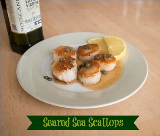 Seared Sea Scallops with Lemon Caper Sauce #shop #STAROliveOil #cbias