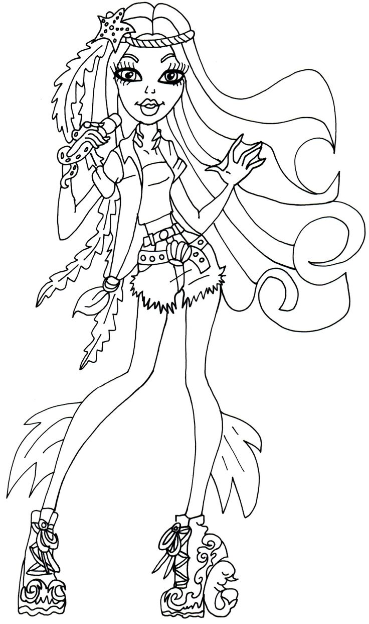 Monster High Free Printables | Madison Fear Monster High Coloring Page