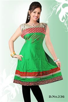 Green casual Wear ready made kurti @ just Rs. 830