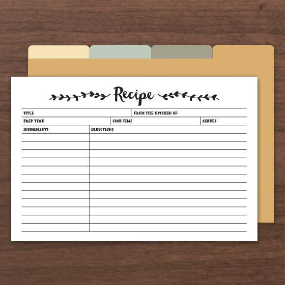 printable  u0026 editable recipe cards  comes with front and