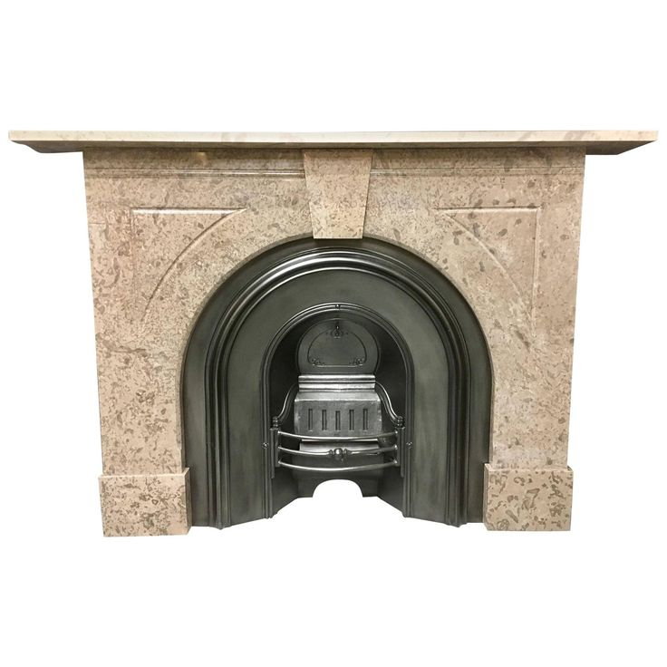1stdibs Fireplace / Mantel – Antique Arched Surround Late Victorian Marble