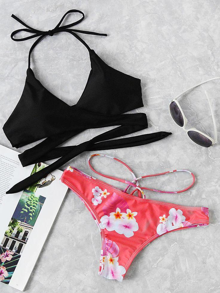 Shop Cross Wrap Strappy Mix And Match Bikini Set online. SheIn offers Cross Wrap Strappy Mix And Match Bikini Set & more to fit your fashionable needs.