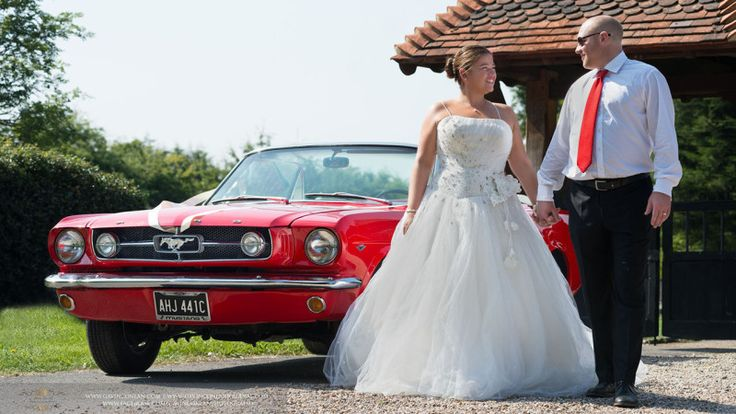 Classic Mustang Convertible available to hire for weddings in Essex and London