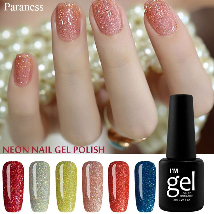 Paranes 2017 Color Gel Lacquer Shiny Color UV Gel Nail Polish Lucky Colorful Neon UV Gel Polish DIY Nail Art Manicure Set  Price: 0.95 USD