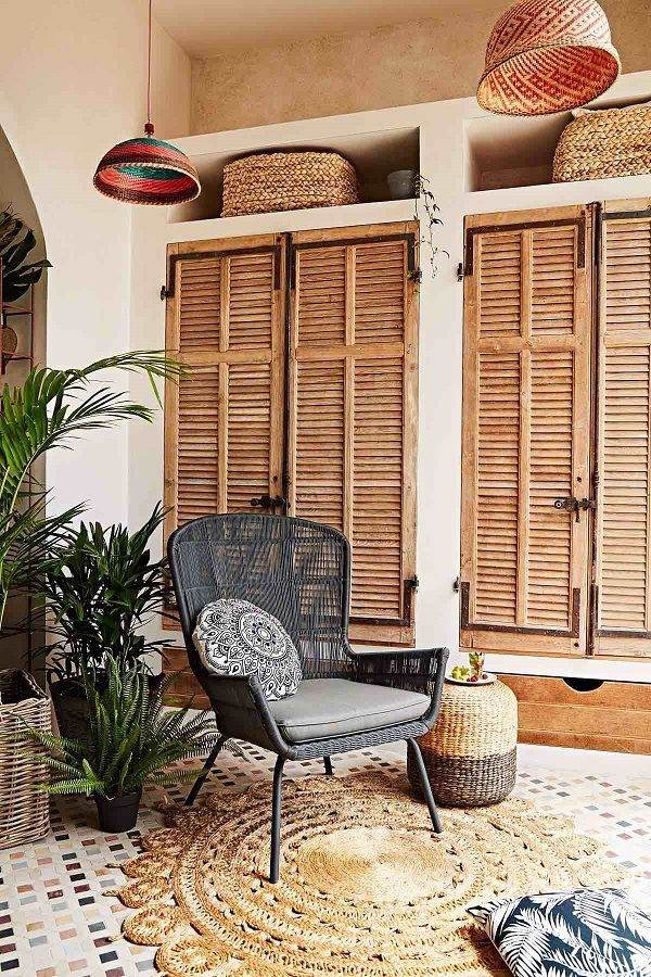 If you're looking for a veranda chair that's sleek and sophisticated then meet Allegra; made out of all weather wicker, Allegra is the perfect place for that late afternoon glass of wine. Styling by Heather Nette King.