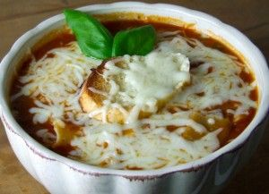 A Delicious Hot Bowl of Hearty Lasagna Soup. Mouth watering Recipe at: http://mylasagnarecipe.com/2012/03/hearty-lasagna-soup-recipe/
