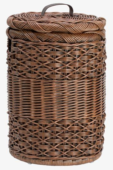 round laundry wicker hamper with liner