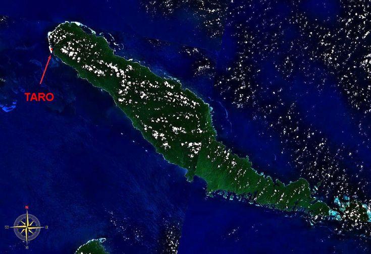 Taro Island : Image satellite de l'île voisine de Choiseul, Taro est marqué en rouge en haut à gauche. ◆Taro (île) — Wikipédia http://fr.wikipedia.org/wiki/Taro_%28%C3%AEle%29 #Taro_Island