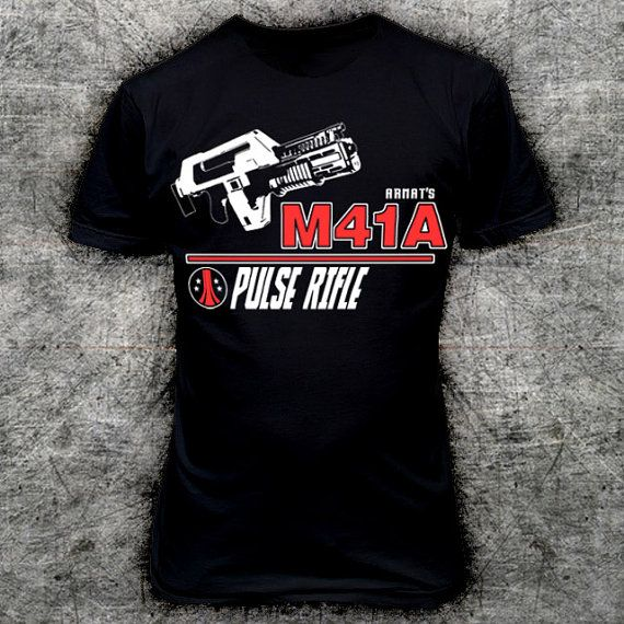 9051 M41A PULSE RiFLE T-SHiRT inspired by ALiEN uss sulaco Colonial Marines uscss nostromo aliens