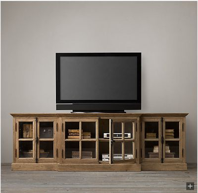 Restoration Hardware Look-Alikes: Save up to 1911.00 @ sauder.com vs Restoration Hardware French Casement Media Console