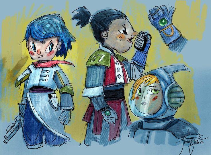 sc-fi kid characters