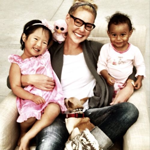 Katherine Heigl and her two daughters Naeaigh & Adalaide