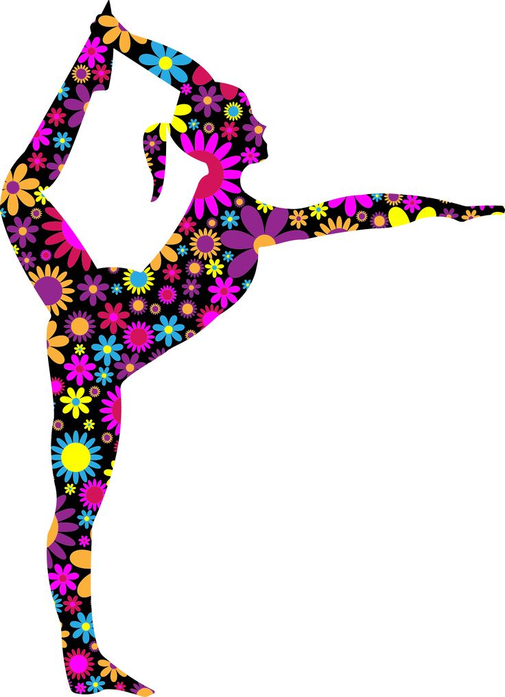 Floral Stretching Ballerina Silhouette by GDJ