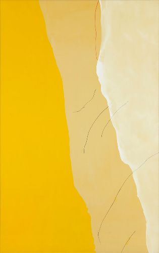 Helen Frankenthaler, Mornings, 1971, Acrylic and marker on canvas, 116 × 73 inches