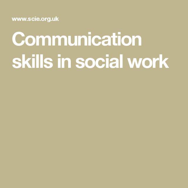 Communication skills in social work