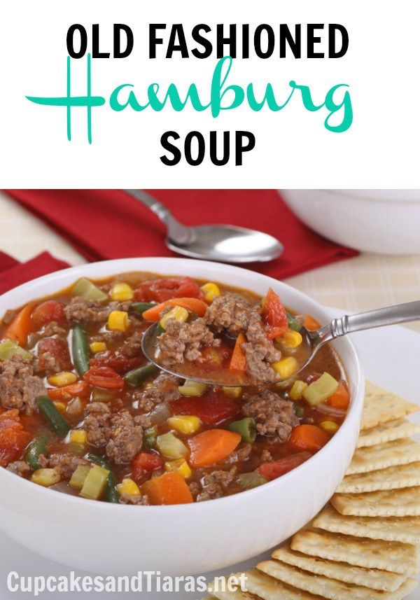 OLD FASHIONED HAMBURG SOUP ... Fall Comfort Food ... Easy to make and hearty enough to be a meal.