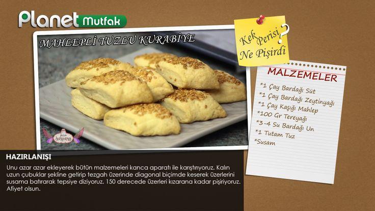 """""""kekperisi"""" programında Pasta Şefi Başak Ergen'in sizler için yaptığı """"Mahlepli Tuzlu Kurabiye"""" tarifi."""