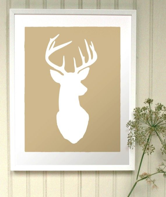 47 best silhouette images on Pinterest | Deer, Stag head and Craft