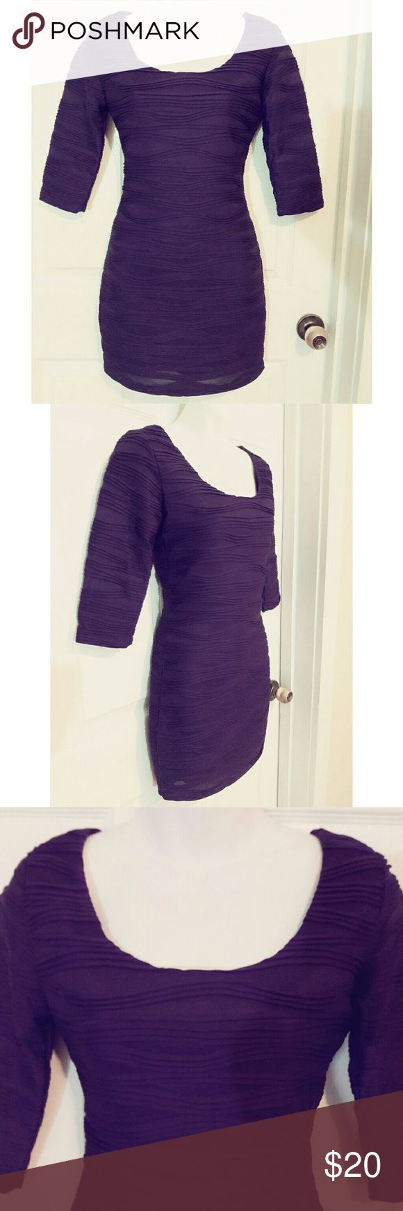 xxi Purple Bodycon dress xxi Purple Bodycon dress. Like new. Worn once. Size S. Smoke free home! Forever 21 Dresses Mini