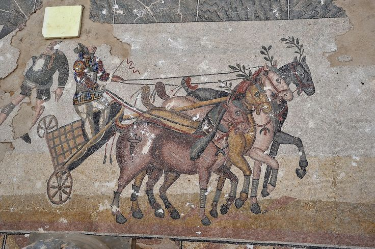 charioteer - Villa del Casale - ancient Roman villa built in the first quarter of the IV century and is located about 5 km from the town of Piazza Armerina in Sicily