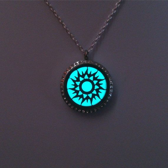 Turquoise Glowing Necklace  Statement by BespokeInnaDesign on Etsy #glowing #necklace #glowinthedark #jewelry #mothersday #gift #girlfriend #birthday #gift #forher #fashion #locket