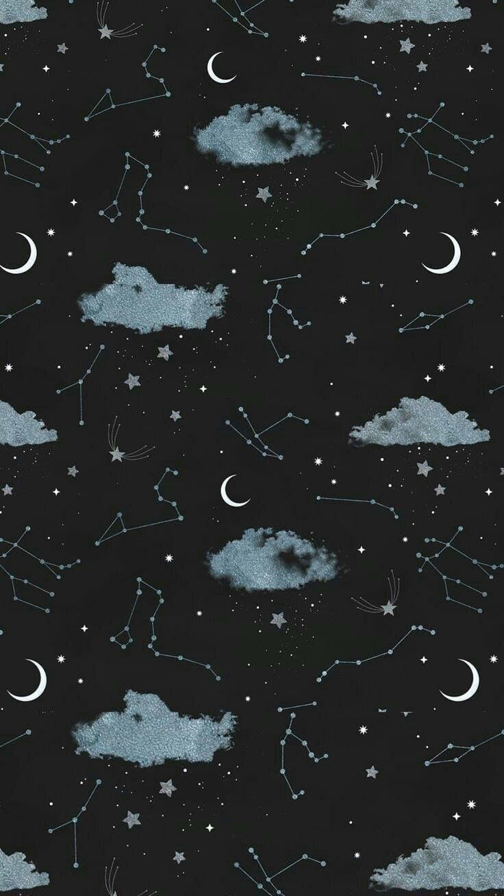 Pin By Phuong On Beautiful Scene Night Sky Wallpaper Moon And Stars Wallpaper Aesthetic Iphone Wallpaper