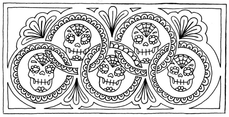 1000+ Images About Skull Coloring On Pinterest