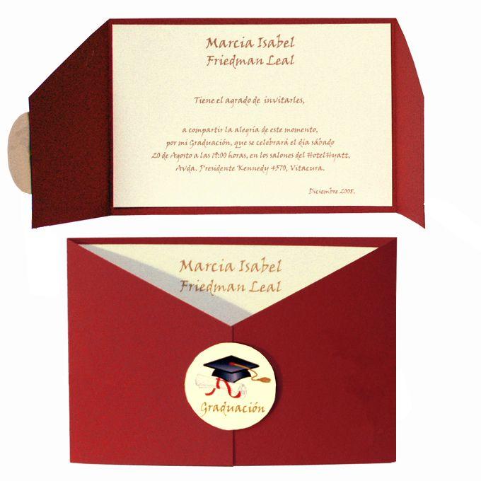 Modelos De Tarjetas De Invitación De Graduación