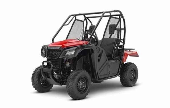 New 2017 Honda Pioneer 500 ATVs For Sale in North Carolina. For thousands of side-by-side owners, the right tool for the job is a Honda Pioneer 500. It's big enough to seat two easily, but at just 50 inches wide, it can fit where bigger side-by-sides can't, letting you explore trails with width restrictions. That means it also fits into a full-sized pickup's bed easily. But the Pioneer 500 still offers plenty of power, and is loaded with features, including for 2017, a new automatic…