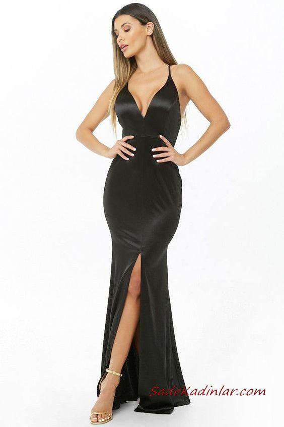 97655b8e0cad1 ... İp Askılı V Yakalı Yırtmaçlı #moda #fashion #fashionblogger  #eveningdresses #eveninggowns #promdresses #promdresses2019  #promdresseslong #dresses #abiye
