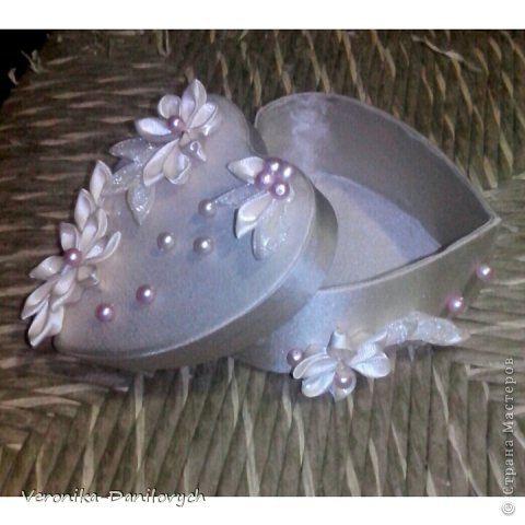 Декор предметов Цумами Канзаши шкатулка отличный подарок Бусины Картон Клей Ленты Ткань фото 1