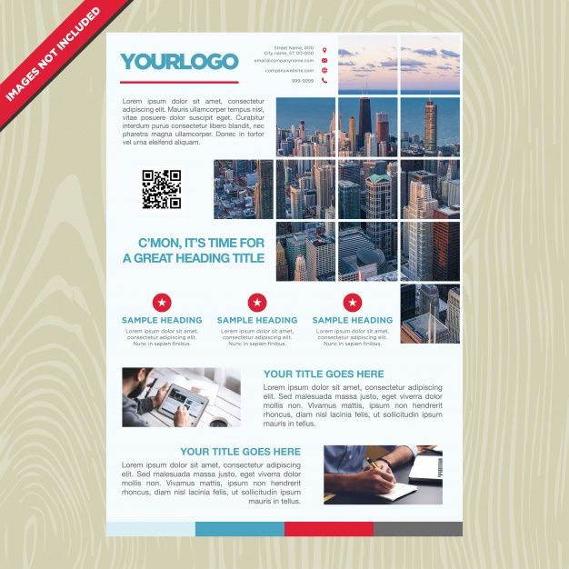Free high quality brochure for your business