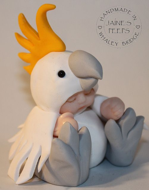 *POLYMER CLAY  ~ Cockatoo by Jaine's Peeps, via Flickr