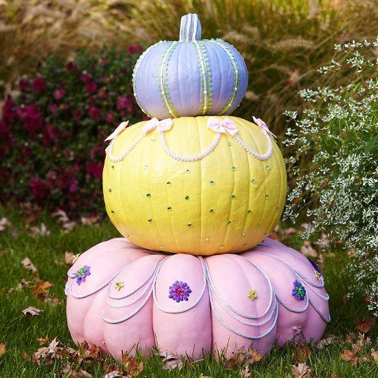 Citrouille Halloween décorative - 22 idées avec de la peinture en 2020   Décoration citrouille ...