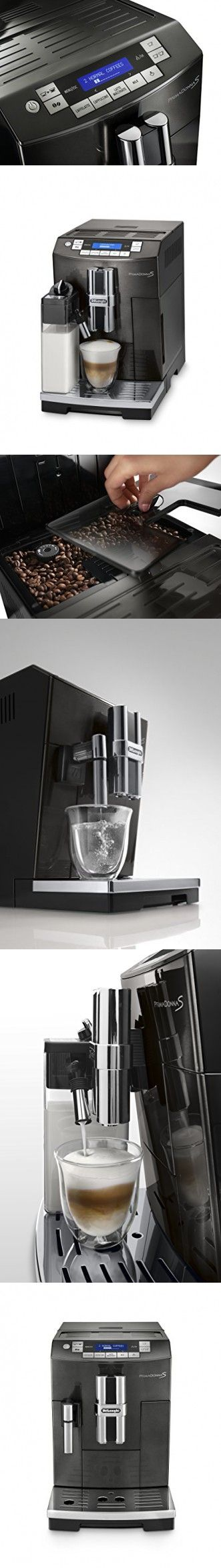 DeLonghi America ECAM28465B Prima Donna Fully Automatic Espresso Machine with Lattecrema System, Black