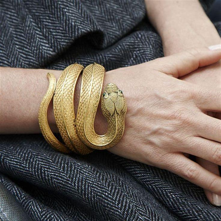 18k gold snake bracelet c.1870