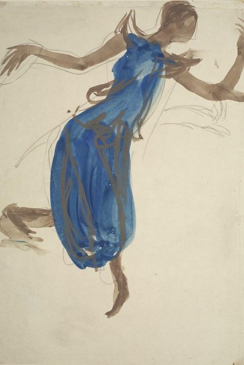 Cambodian Dancer (1906) Auguste Rodin : peintre et sulpteur français (1840-1917)