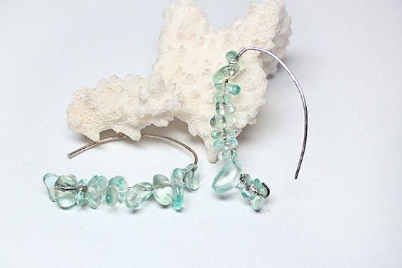 Boho Ohrringe Aquamarin Schmuck Geschenk für ihre von SweetLine