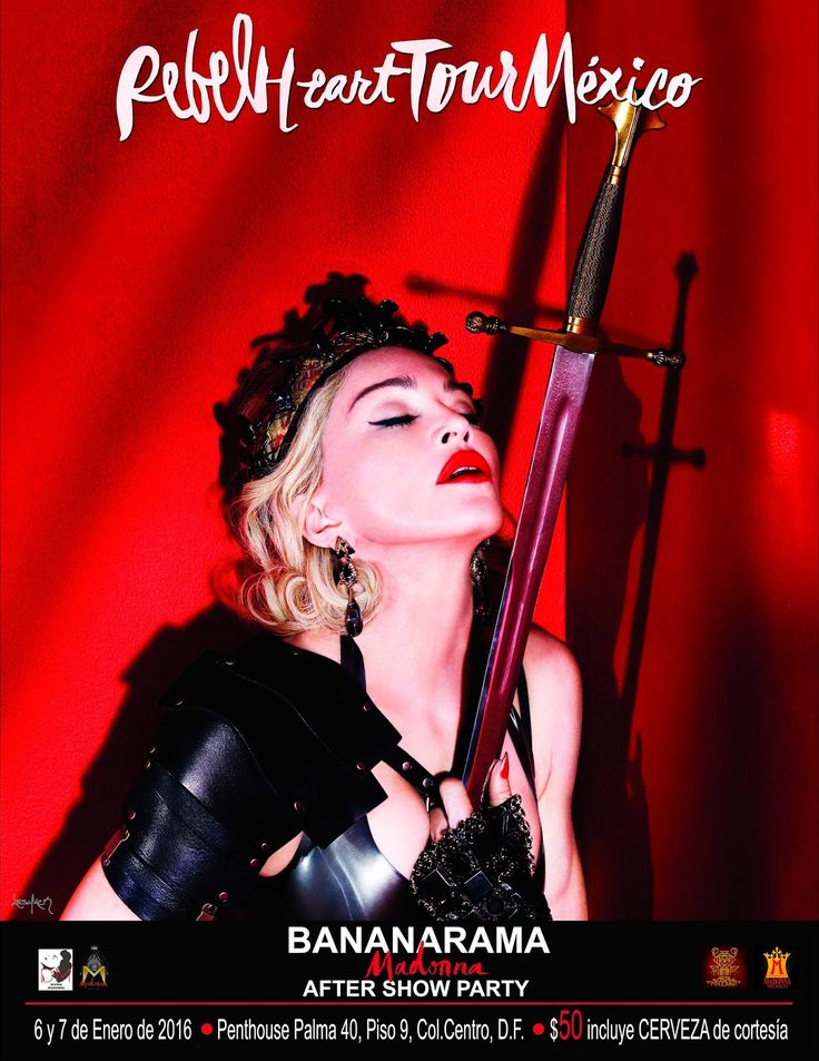 Madonna - Rebel Heart Tour Mexico - After Show Party - Mini Print