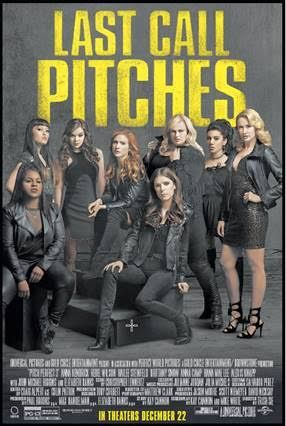 PITCH PERFECT 3 – Rated PG-13 – 1 hr. 33 mins. – MAY CONTAIN SPOILERS Director: Trish Sie Starring: BELLAS Anna Kendrick, Rebel Wilson, Brittany Snow, Anna Camp, Hailee Steinfeld, Ester Dean, Ha…