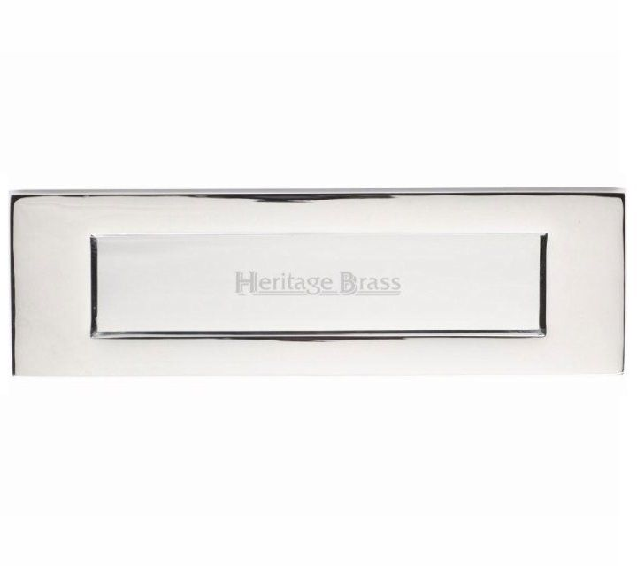 Heritage Brass V850 Victorian Letter Plate - Polished Chrome (Various Sizes) - Handles 4 Homes Ltd