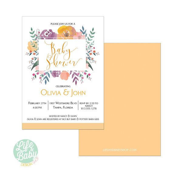 Flower Baby Shower Invitation | Gender Neutral Baby Shower ...