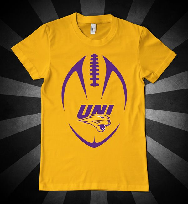 UNI Football with Panthers logo t-shirt