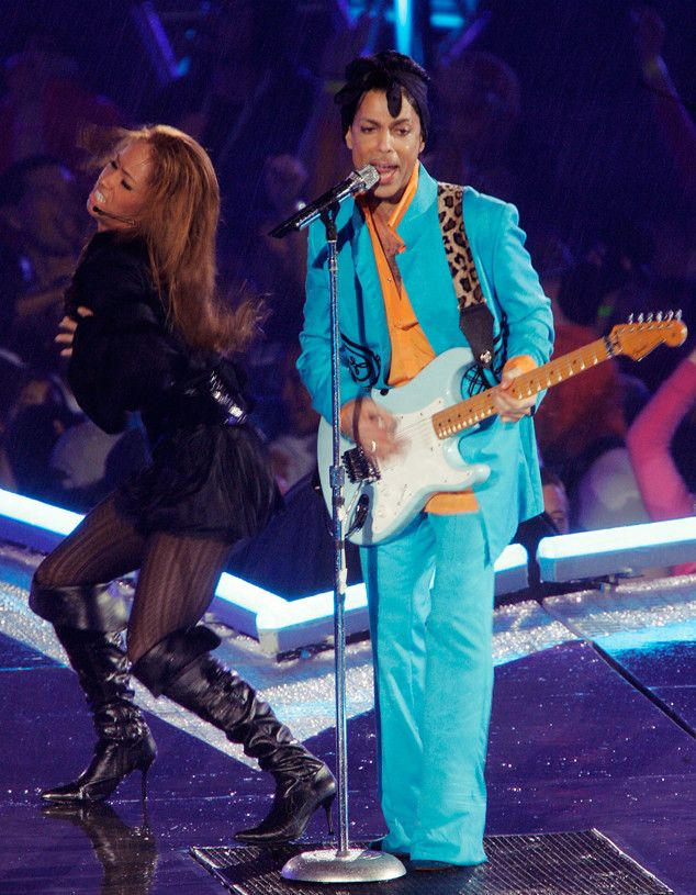 Super Bowl Star from Prince: A Life in Pictures  Prince performed at the Super Bowl XLI halftime show in 2007.