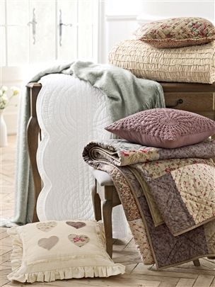 white quilted throw - Next