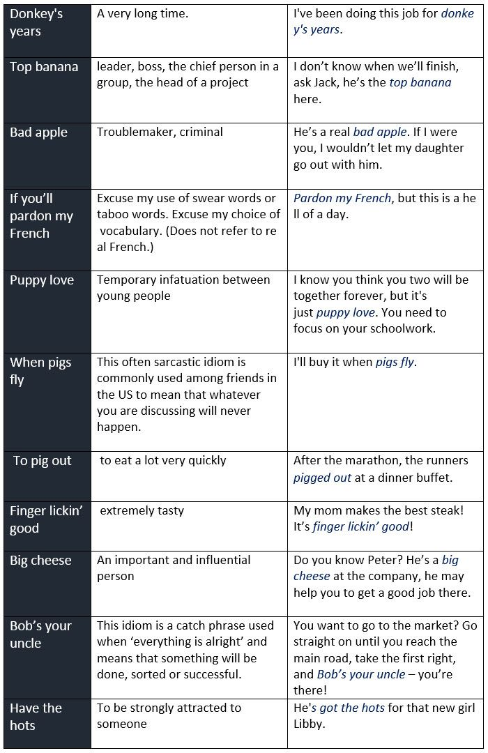 84 Best Idioms And Such Images On Pinterest English Grammar