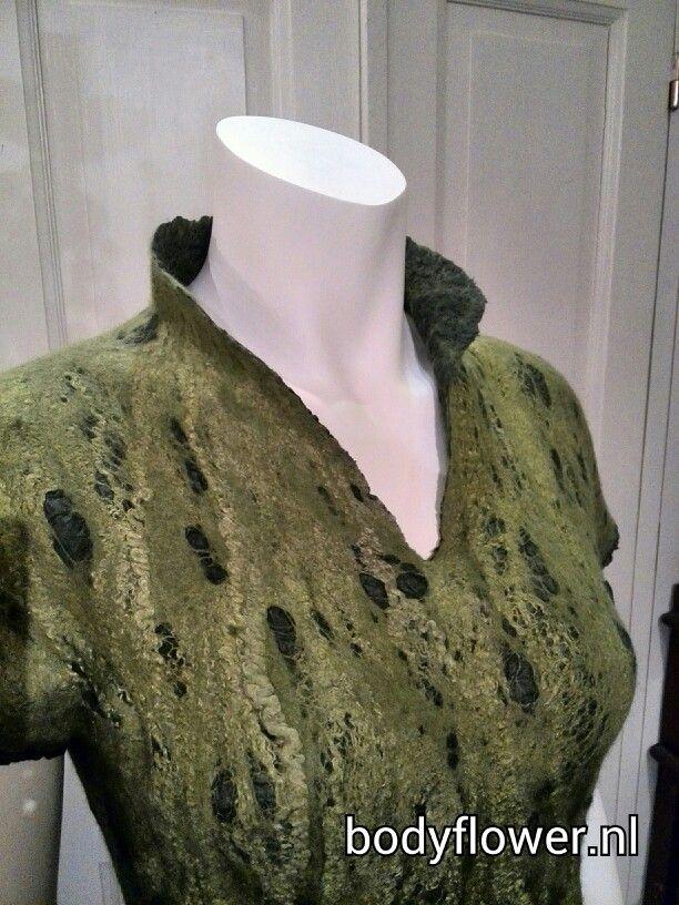 Dress felt detail made by ingeborg honer