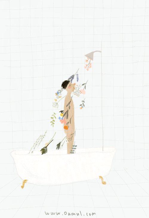 Je veux une douche de fleur. Qui veut bien me lancer des fleurs ? Fuente:oamul