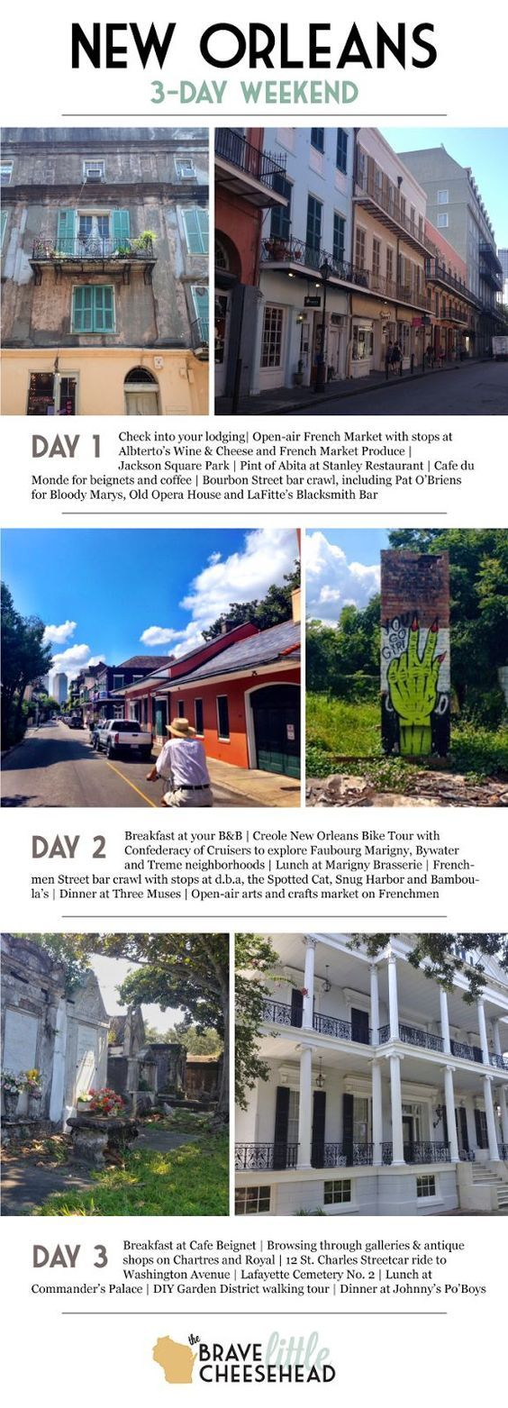How to Spend 3 Days in New Orleans | Brave Little Cheesehead at http://bravelittlecheesehead.com