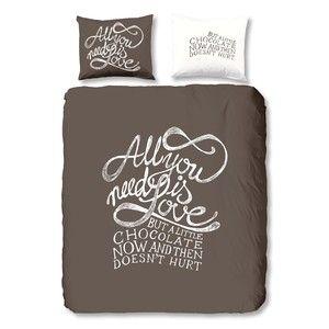 Povlečení Muller Textiel Chocolate Love , 140x200 cm